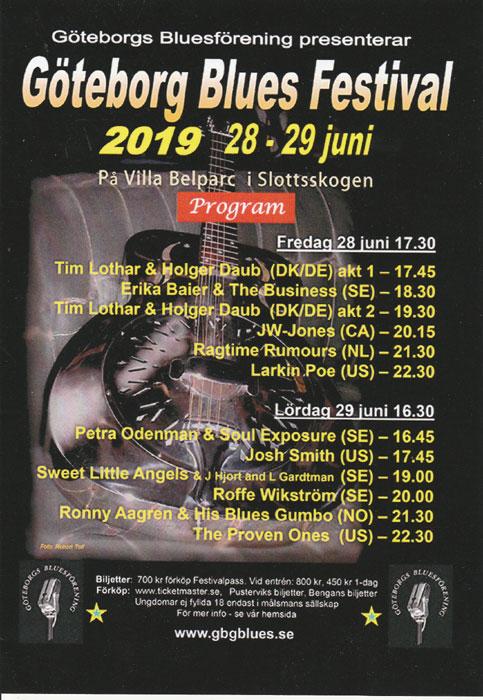 Göteborg Blues Festival 2019 - tider