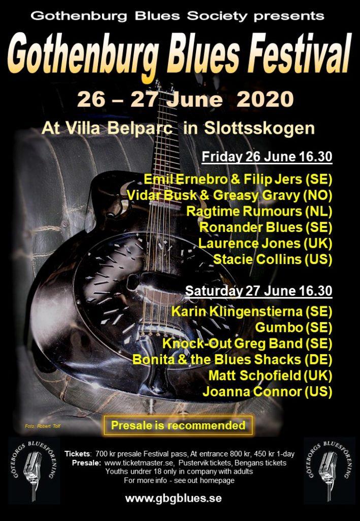 Gothenburg Blues Festival 2020